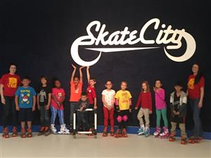 Students at Skate City.