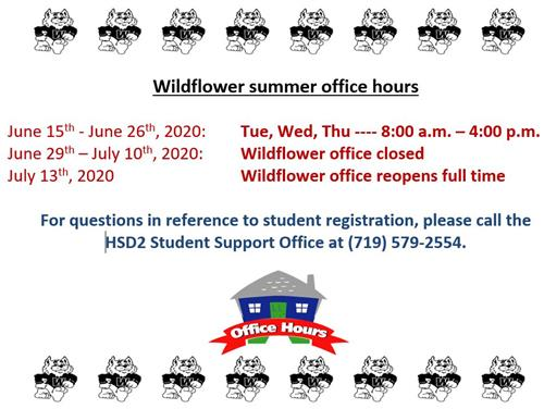 Wildflower Office Summer Hours